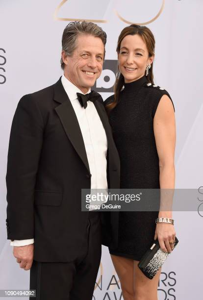 Hugh Grant and Anna Elisabet Eberstein attend the 25th Annual Screen Actors Guild Awards at The Shrine Auditorium on January 27 2019 in Los Angeles...