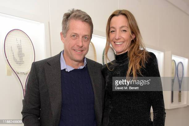 Hugh Grant and Anna Elisabet Eberstein attend the Lacoste VIP Lounge at the 2019 ATP World Tour Tennis Finals on November 17 2019 in London England