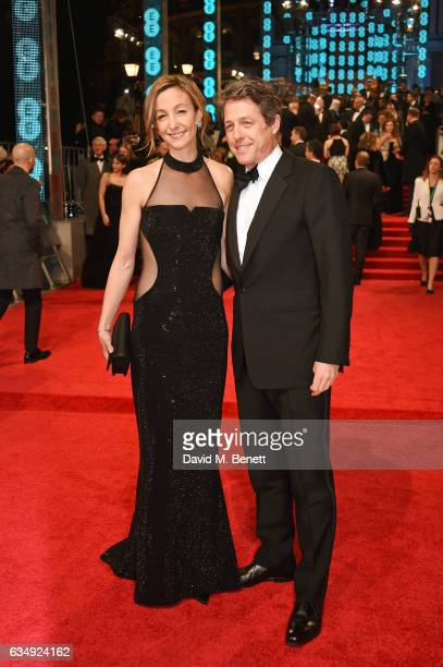 Hugh Grant and Anna Elisabet Eberstein attendsthe 70th EE British Academy Film Awards at Royal Albert Hall on February 12 2017 in London England