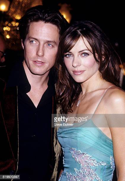 Hugh Grant and Elizabeth Hurley at premiere of 'Mickey Blue Eyes,' New York, August 11, 1999.