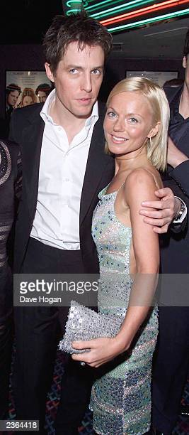 Hugh Grant and Geri Halliwell at the 'Bridget Jones's Diary' Premiere in London 4/4/2001 Photo by Dave Hogan/MP/Getty Images