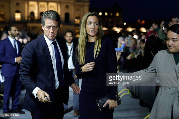 Hugh Grant and his girlfriend Anna Eberstein attend the 'Florence Foster Jenkins' Premiere and Golden Icon award ceremony during the 12th Zurich Film...