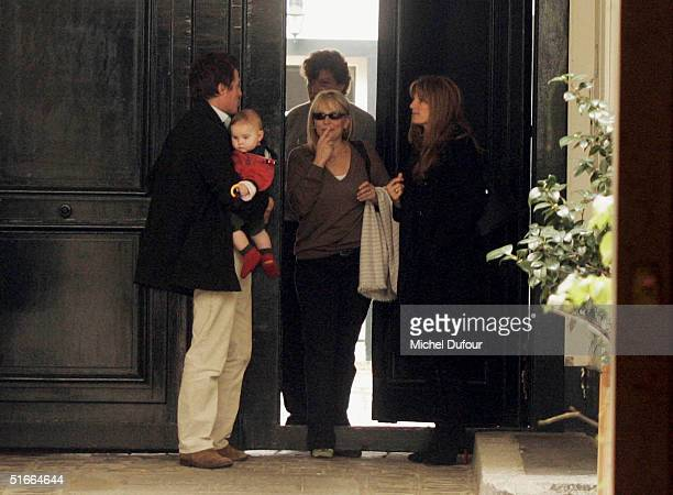 Hugh Grant and Jemima Khan spend time together in Paris during Hugh's current promotional tour for Bridget Jones The Edge Of Reason on November 4...