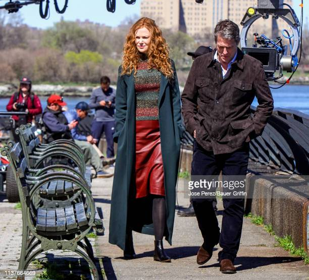 Hugh Grant and Nicole Kidman are seen on April 16 2019 in New York City