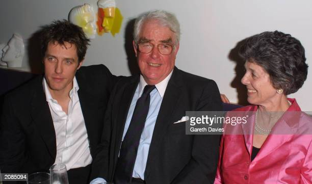 Hugh Grant and parents attend the after-show party for the London premiere of 'Bridget Jones's Diary' at Mezzo, London, April 4, 2001. Grant stars in...