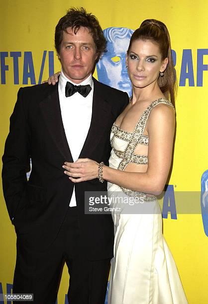 Hugh Grant and Sandra Bulllock during 12th Annual BAFTA/LA Britannia Awards at Century Plaza Hotel in Century City California United States