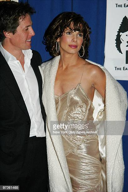 Hugh Grant and Sandra Bullock arrive at the Ziegfeld Theater for the New York premiere of the movie 'Two Weeks Notice' They star in the film and...