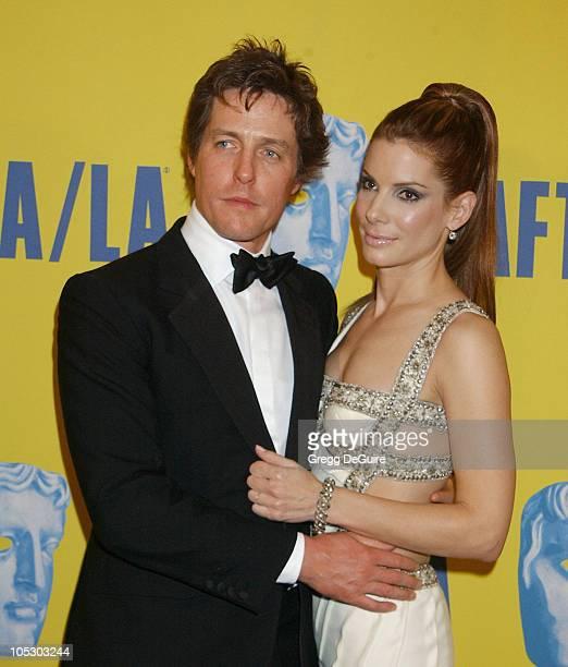 Hugh Grant and Sandra Bullock during 12th Annual BAFTA/LA Britannia Awards at Century Plaza Hotel in Century City California United States