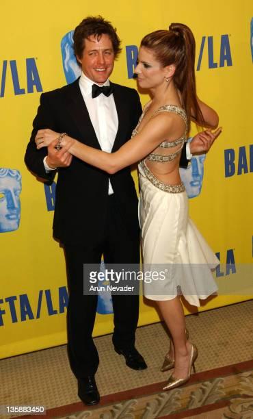 Hugh Grant and Sandra Bullock during 12th Annual BAFTA/LA Britannia Awards at Century Plaza Hotel in Century City, California, United States.