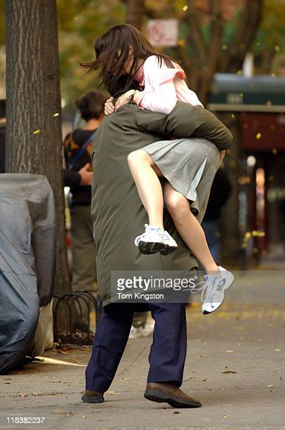 Hugh Grant and Sandra Bullock during Sandra Bullock and Hugh Grant Filming 'Two Weeks Notice' in New York City on November 14 2002 at Upper Manhattan...