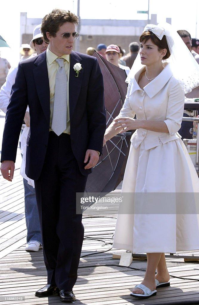 Hugh Grant and Sandra Bullock during Sandra Bullock and