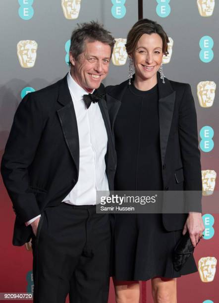Hugh Grant Anna Eberstein attend the EE British Academy Film Awards held at Royal Albert Hall on February 18 2018 in London England