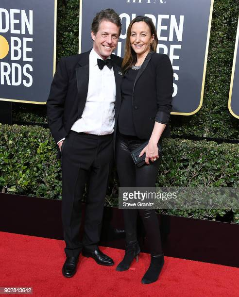 Hugh Grant Anna Eberstein metoo arrives at the 75th Annual Golden Globe Awards at The Beverly Hilton Hotel on January 7 2018 in Beverly Hills...