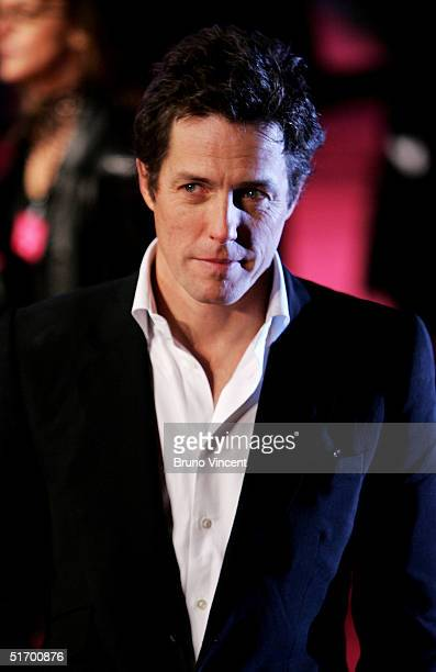 Hugh Grant arrives at the UK Gala Premiere of Bridget Jones The Edge Of Reason at the Odeon Leicester Square on November 9 2004 in London