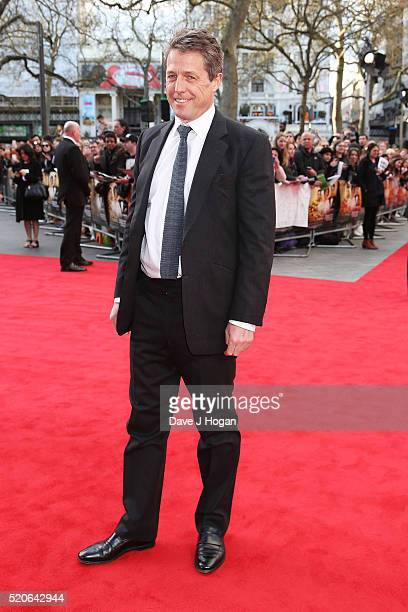 Hugh Grant arrives for the UK film premiere of Florence Foster Jenkins at Odeon Leicester Square on April 12 2016 in London England