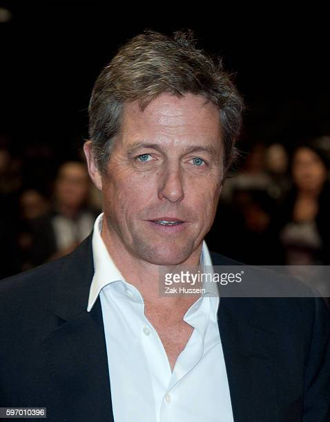 Hugh Grant arriving at the European premiere of The Rewrite at the Kensington Odeon in London.