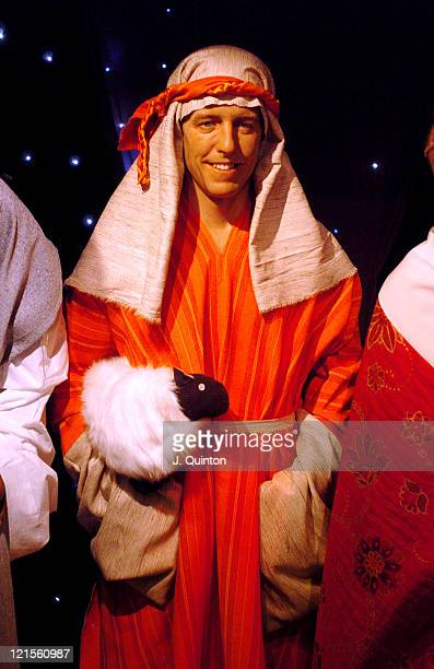 Hugh Grant as a Shepherd during Madame Tussauds 2004 Celebrity Nativity Scene at Madame Tussauds in London Great Britain