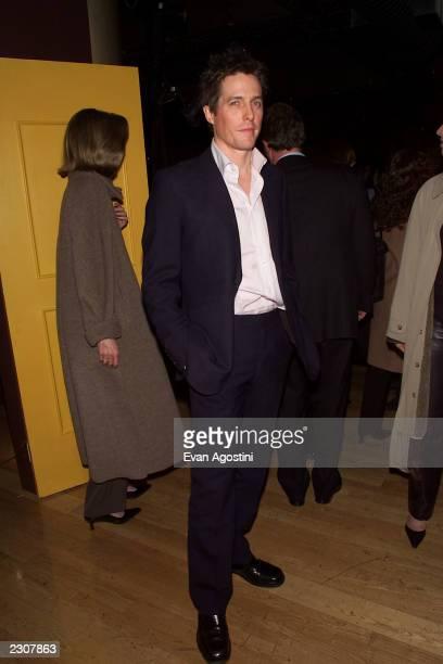Hugh Grant at the 'Bridget Jones's Diary' film premiere at the the Ziegfeld Theater in New York City Photo Evan Agostini/Getty Images