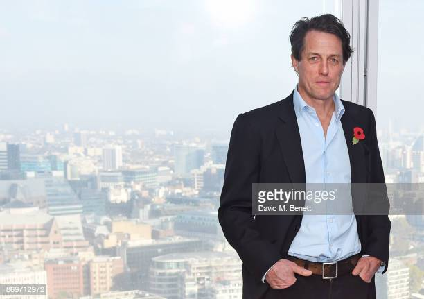 Hugh Grant attends a photocall for Paddington 2 at ShangriLa Hotel The Shard on November 3 2017 in London England