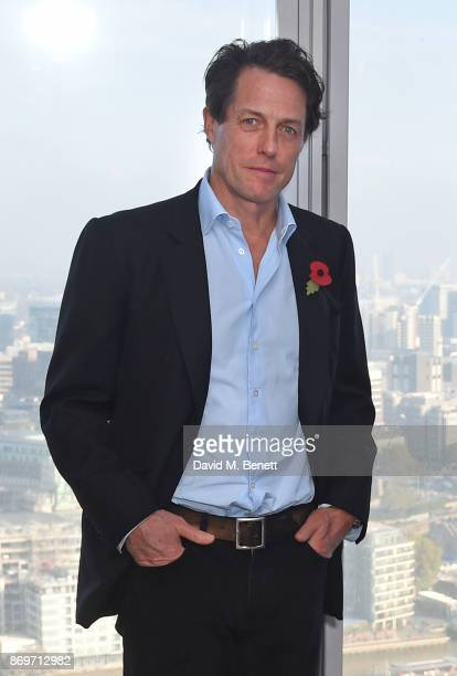 Hugh Grant attends a photocall for 'Paddington 2' at ShangriLa Hotel The Shard on November 3 2017 in London England