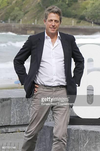 Hugh Grant attends 'Florence Foster Jenkins' photocall during 64th San Sebastian Film Festival on September 18, 2016 in San Sebastian, Spain.