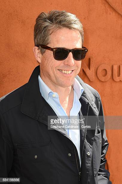 Hugh Grant attends the 2016 French tennis Open day Four at Roland Garros on May 25 2016 in Paris France