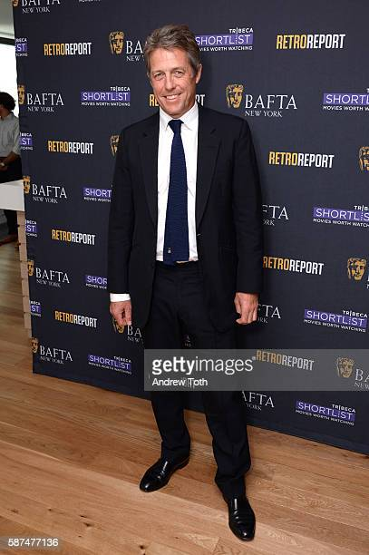 Hugh Grant attends the BAFTA New York Tribeca Short List present In Conversation with Hugh Grant at The Retro Report on August 8 2016 in New York City