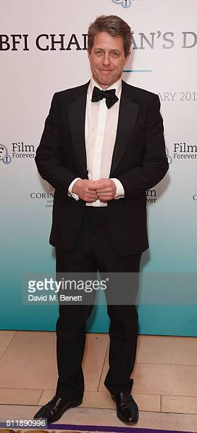 Hugh Grant attends the BFI Chairman's Dinner where he was awarded with his BFI Fellowship at The Corinthia Hotel on February 23 2016 in London England