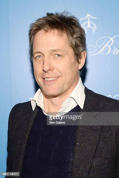Hugh Grant attends The Cinema Society and Brooks Brothers Host A Screening of 'The Rewrite' at Landmark Sunshine Cinema on February 10 2015 in New...