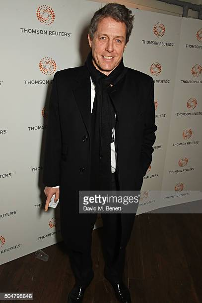 Hugh Grant attends the film premiere of 'Attacking The Devil' at Picturehouse Central on January 13 2016 in London England