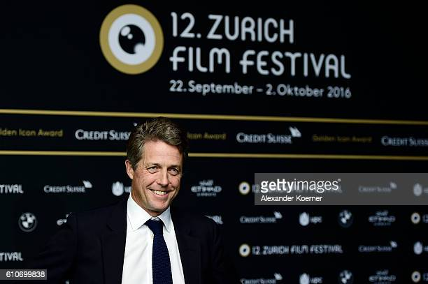 Hugh Grant attends the 'Florence Foster Jenkins' Premiere and Golden Icon award ceremony during the 12th Zurich Film Festival on September 27 2016 in...