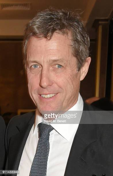 Hugh Grant attends the London Film Critics' Circle Awards 2018 at The May Fair Hotel on January 28 2018 in London England