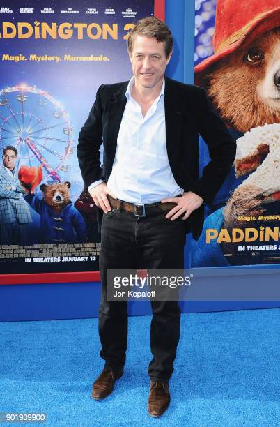 Hugh Grant attends the Los Angeles Premiere 'Paddington 2' at Regency Village Theatre on January 6 2018 in Westwood California