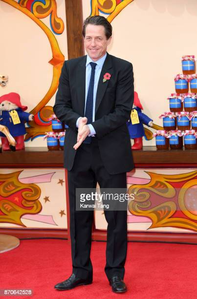 Hugh Grant attends the 'Paddington 2' premiere at BFI Southbank on November 5 2017 in London England