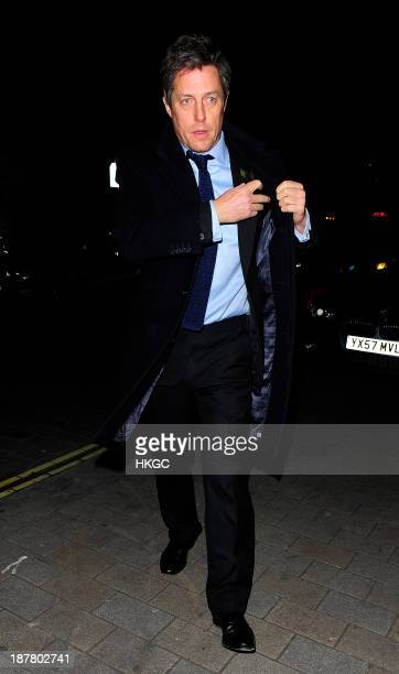 Hugh Grant attends the Tunnel of Love fundraiser in aid of the British Heart Foundation at One Mayfair on November 12 2013 in London England