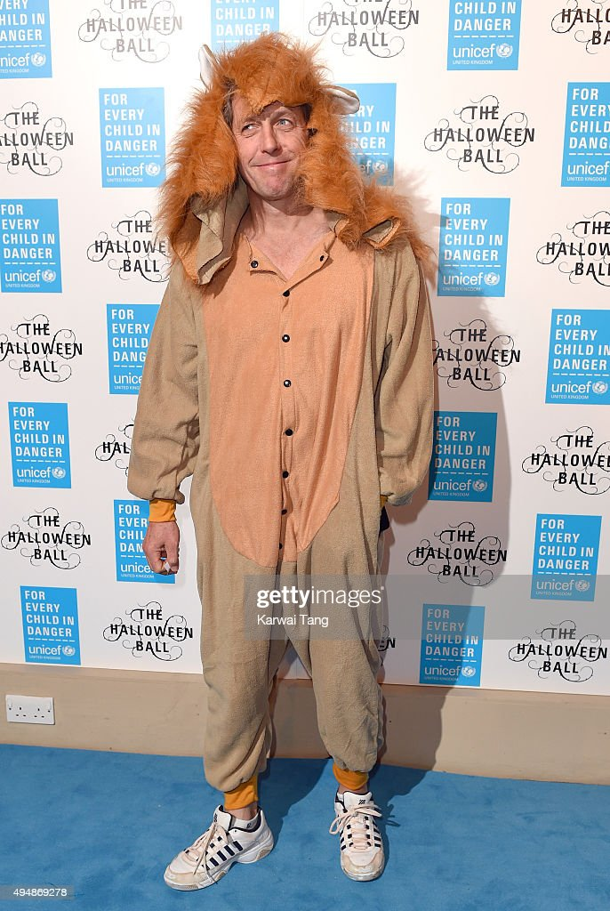 Hugh Grant attends the UNICEF Halloween Ball at One Mayfair on October 29, 2015 in London, England.