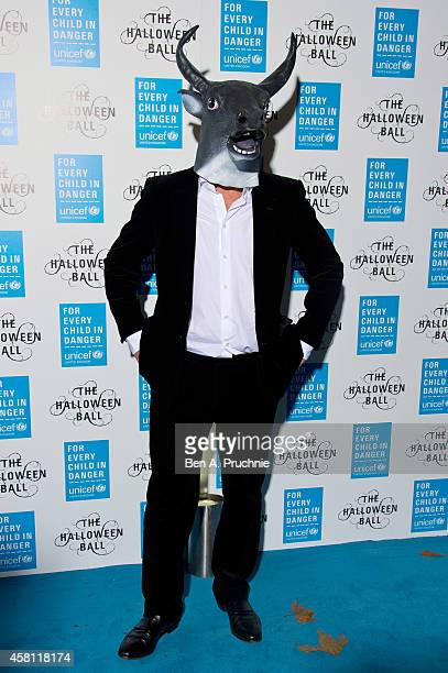 Hugh Grant attends the UNICEF Halloween Ball at One Mayfair on October 30 2014 in London England