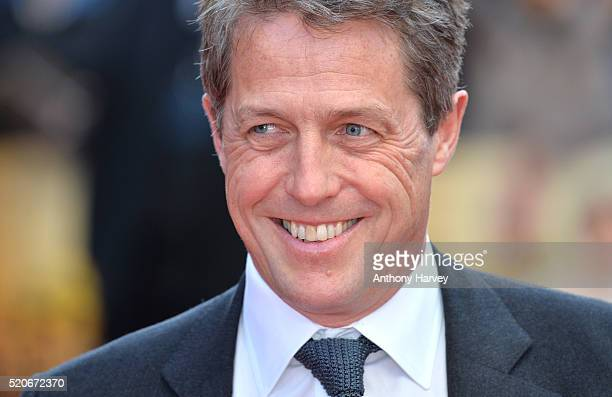 Hugh Grant attends the World film premiere of 'Florence Foster Jenkins' at Odeon Leicester Square on April 12 2016 in London England