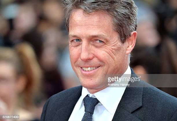 Hugh Grant attends the World film premiere of Florence Foster Jenkins at Odeon Leicester Square on April 12 2016 in London England