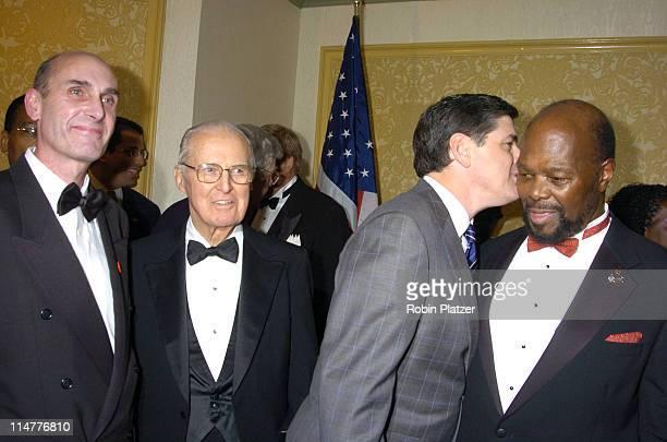 Hugh Grant Dr Norman Borlaug Sean Hannity and Roy Innis