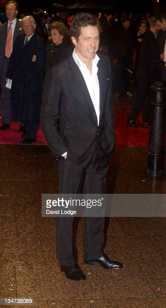 Hugh Grant during Bridget Jones the Edge of Reason Premiere Arrivals at Odeon Leicester Square in London Great Britain