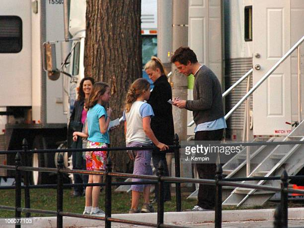 Hugh Grant during Hugh Grant on Location for 'Music And Lyrics By' March 31 2006 at Upper West Side in New York City New York United States