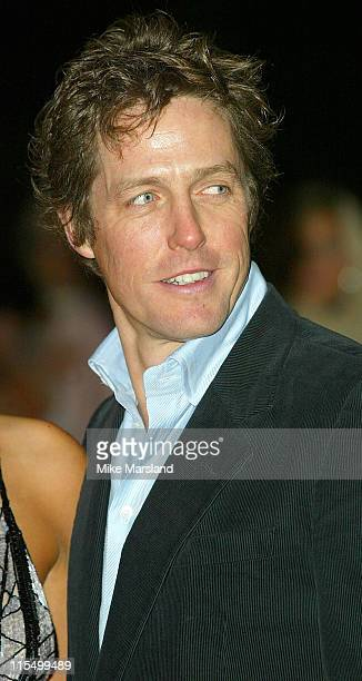 Hugh Grant during 'Love Actually' London Premiere Arrivals at The Odeon Leicester Square in London United Kingdom