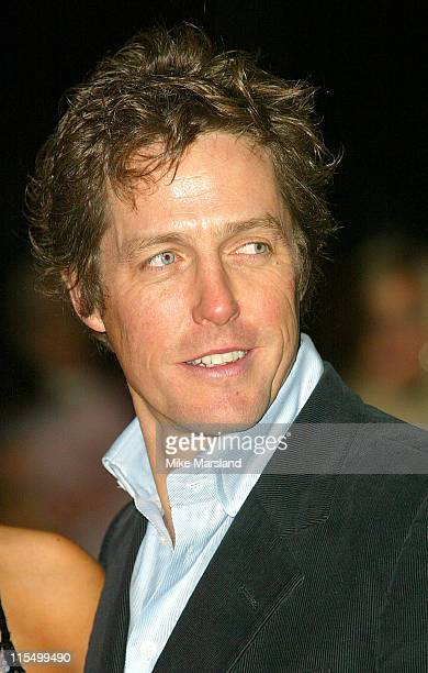 "Hugh Grant during ""Love Actually"" London Premiere - Arrivals at The Odeon Leicester Square in London, United Kingdom."