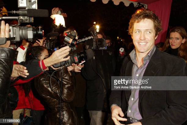 "Hugh Grant during ""Love Actually"" Premiere - Paris at UGC Normandy - Champs Elysees in Paris, France."