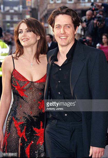 Hugh Grant & Elizabeth Hurley Attend The World Charity Premiere Of 'Notting Hill'.