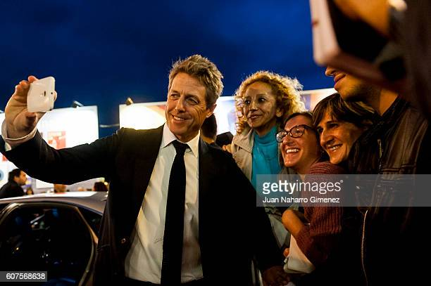 Hugh Grant is seen during 'Florence Foster Jenkins' premiere at Victoria Eugenia Theatre on September 18 2016 in San Sebastian Spain