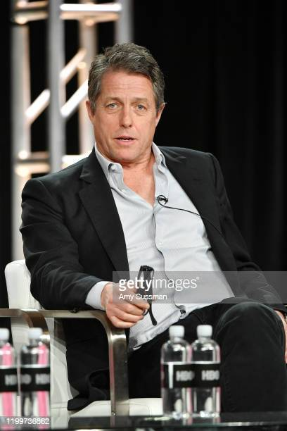 """Hugh Grant of """"The Undoing"""" speaks during the HBO segment of the 2020 Winter TCA Press Tour at The Langham Huntington, Pasadena on January 15, 2020..."""