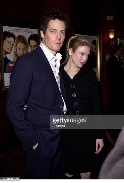 Hugh Grant Renee Zellweger during Bridget Jones's Diary Premiere at Ziegfeld Theater in New York City New York United States