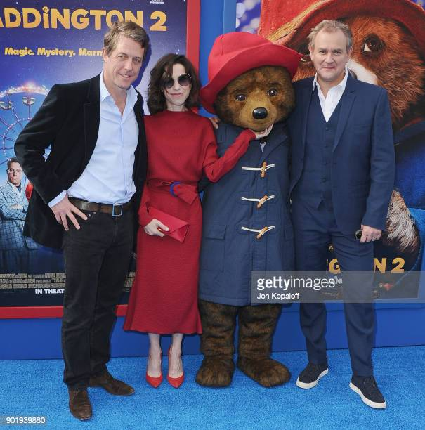 Hugh Grant Sally Hawkins and Hugh Bonneville attend the Los Angeles Premiere 'Paddington 2' at Regency Village Theatre on January 6 2018 in Westwood...